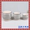 圆形陶瓷花盆 白色种花种菜盆底部有孔 景德镇高温瓷