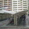 双车位铝合金车棚单边背撑式电动车棚