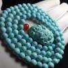 绿松石价格多少钱 绿松石鉴别作用 绿松石佛珠手串高瓷蓝收藏品