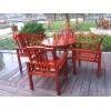 户外实木桌椅休闲套椅防腐木桌椅阳台花园庭院桌组合三五件套公园