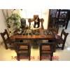 老船木茶桌椅组合实木家具泡茶桌椅中式仿古简约客厅办公茶几茶台
