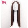 跨境假发女士长直发中分刘海高温化纤丝发套