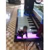 大型暖场led地板钢琴脚踩感应地板钢琴互动发光音乐钢琴