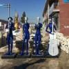 抽象人物乐队雕塑创意玻璃钢雕塑