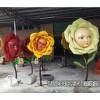 爱丽丝动画人面花朵雕塑爱丽丝主题摆件