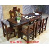 实木茶桌椅组合功夫茶台桌老船木茶几新中式禅意茶艺桌家用泡茶桌