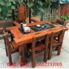 茶桌椅组合实木新中式仿古老船木茶台茶道功夫茶几茶艺喝泡茶桌