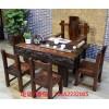 新中式实木茶桌椅组合茶几茶道桌子老船木家具茶桌功夫茶台喝茶