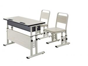 朗哥家具 课桌椅KZY009 实木金属课桌椅 厂家直销