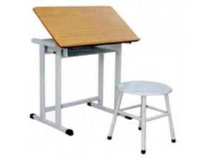 朗哥家具 教室课桌椅KZY021 实木金属课桌椅厂家定制