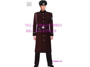 保安冬季长款加厚加棉大衣 物业保安大衣定制 门童外套羊毛服装