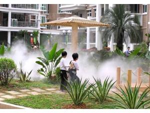 园林造雾墙体彩绘降温除尘