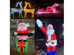 圣诞老人出租圣诞雪车价格圣诞驯鹿厂家