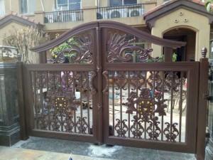 天津铁艺护栏天津铁艺庭院门定制安装
