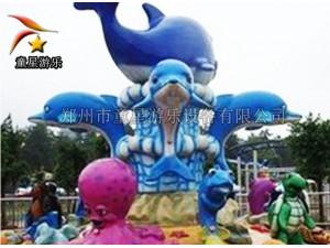 优良的产品性能童星游乐激战鲨鱼岛户外儿童游乐设备