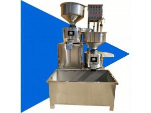 新品全自动二连磨豆腐机全套不锈钢搅渣机