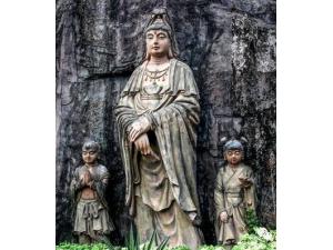 阿婆髻窟雕塑