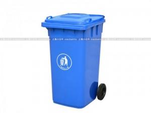 上海金山廊下镇小白牛带盖手推环卫垃圾桶240升