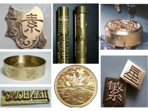 金属模具雕刻机铜章印章铝板模具雕刻机