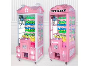 网红皇冠娃娃机夹娃娃机厂家定制口红机抓公仔机投币游戏机礼品机