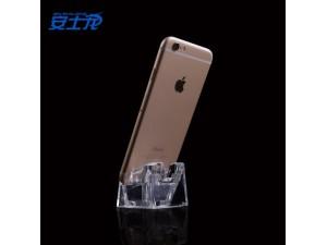 手机平板防盗展示立卧式展示支架亚克力透明水晶展示底座