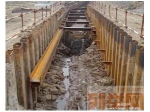 北京打桩机钢板桩拉森桩基坑支护管道支护