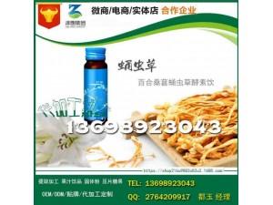 上海附近百合桑葚蛹虫草酵素饮品代工OEM贴牌工厂
