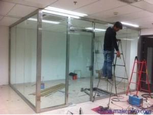 顺义牛栏山安装玻璃门定做玻璃隔断