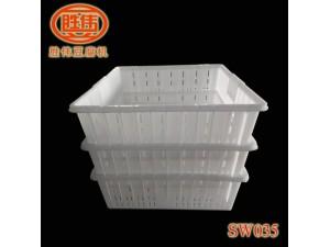 胜伟豆制品专用周转箱,耐腐蚀耐高温全新塑料筐