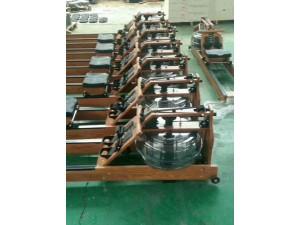 厂家直销健身器材商用健身房室内专用实木双轨水阻划船器