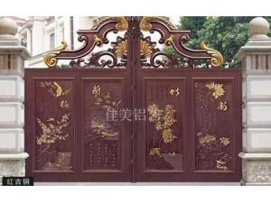 天津铝艺庭院门,别墅铝艺大门厂家定做安装