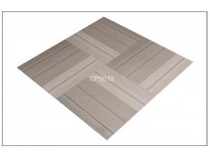 仿地毯纹方块PVC塑料地板斑马灰片材石塑地板写字楼大厦办公室
