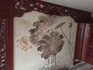 北京悦嘉手绘艺术供应各种题材手绘壁纸.