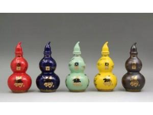 南京粉彩葫芦陶瓷酒瓶1斤厂家价格