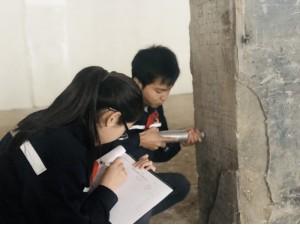 安徽厂房检测站对马鞍山某学校宿舍楼和餐厅进行房屋质量检测