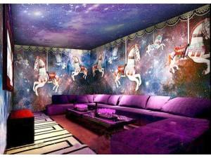 主题酒吧包房壁画 背景墙纸定制 专业定制ktv酒吧酒店壁纸