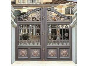 天津铝艺庭院门,佳美铝艺护栏,铝艺围栏定做安装