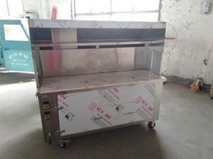 环保油烟净化器不锈钢加厚木炭炉电定制 烧烤车