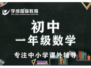长沙一对一课外辅导初一数学补习