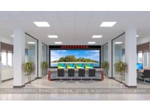 LED大屏指挥中心效果图制作|整体室内俯视图设计