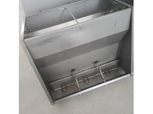 不锈钢喂料槽 猪舍料槽 猪食槽 双面料槽