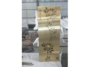 钛金不锈钢屏风隔断激光镂空玫瑰金花格黑钛金金属,不锈钢加工厂
