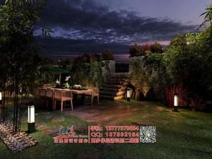 规划休闲庭院小园林景观假山乡村别墅庭院设计