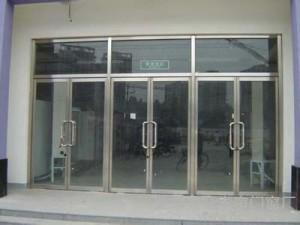 腾达定制安装玻璃门车库门防盗门伸缩门感应门平移门无框玻璃门