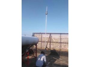 顺义木林镇屋脊安装避雷网厂房做防雷接地网圆珠避雷针安装