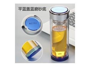 双层耐热广告玻璃杯定制带把办公礼品泡茶水杯子DIY