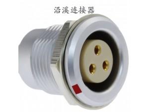 沿溪连接器3芯母座航空接插件仪器信号传输采集器设备线束连接口