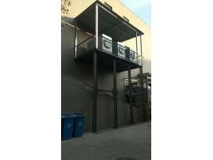 房山区长阳阳台钢结构增层加柱 露台混凝土加建改阁楼