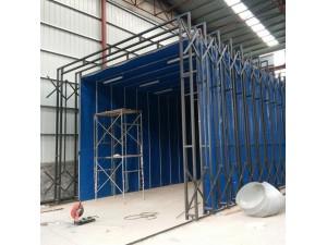 浙江大型钢结构专用进口伸缩移动喷漆房制造商
