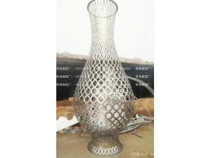仿真网状花瓶雕塑 不锈钢花瓶艺术品 河北花瓶不锈钢工厂